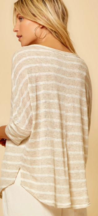 Simply Striped Top - Ivory