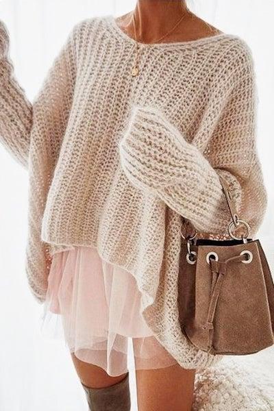 Shine On Me Sweater- Cream