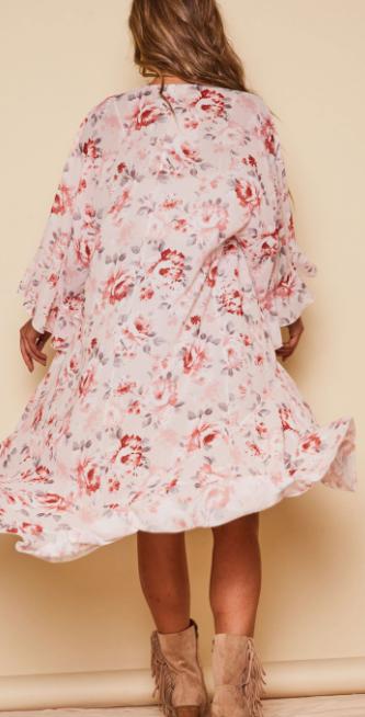 You'll Never Know Kimono - Blush