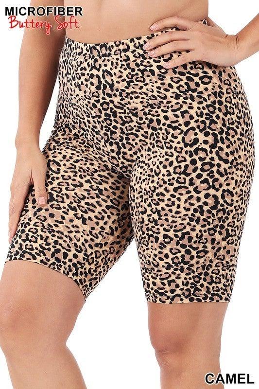 All That Sass Biker Shorts - Camel
