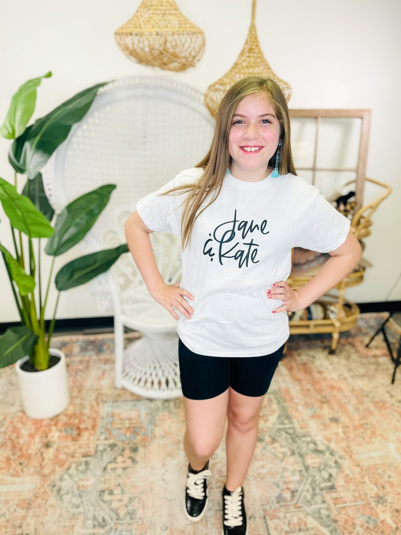 Jane&Kate Youth Graphic Tee - Cursive