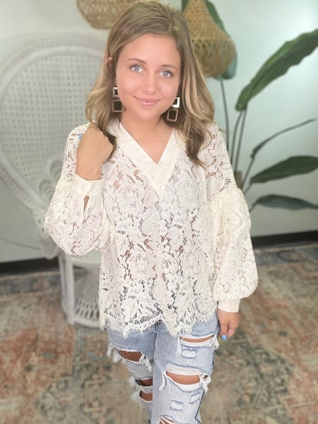 Lace Lace Baby Top - Cream