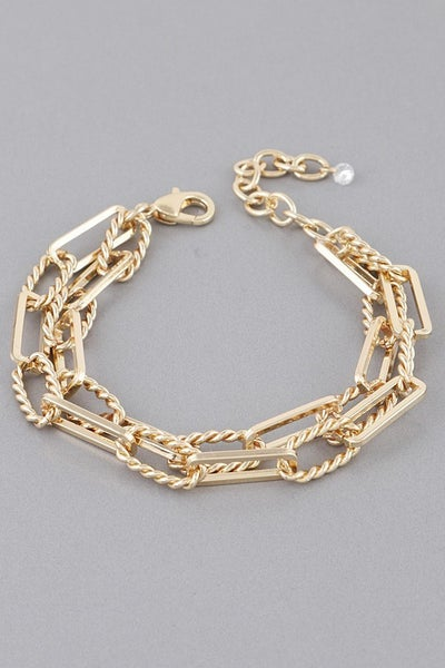 Double Trouble Chain Link Bracelet