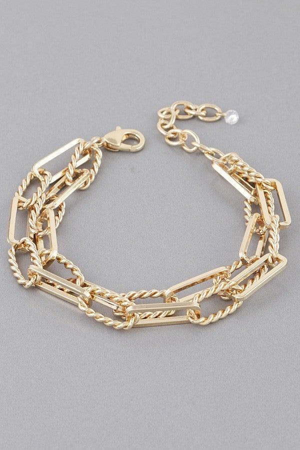 Double Trouble Chain Link Bracelet
