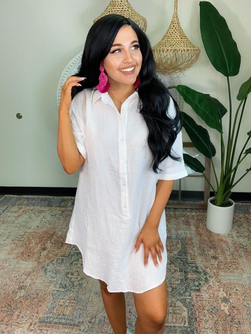Sunshine And Shades Dress - White