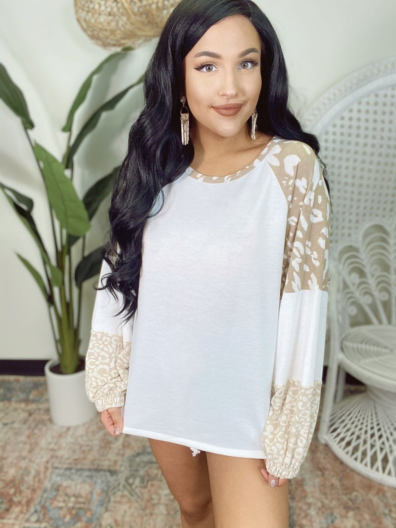 Poppin' Bubbly Leopard Detail Top