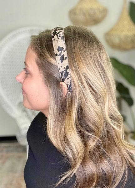 Cow Print Headband
