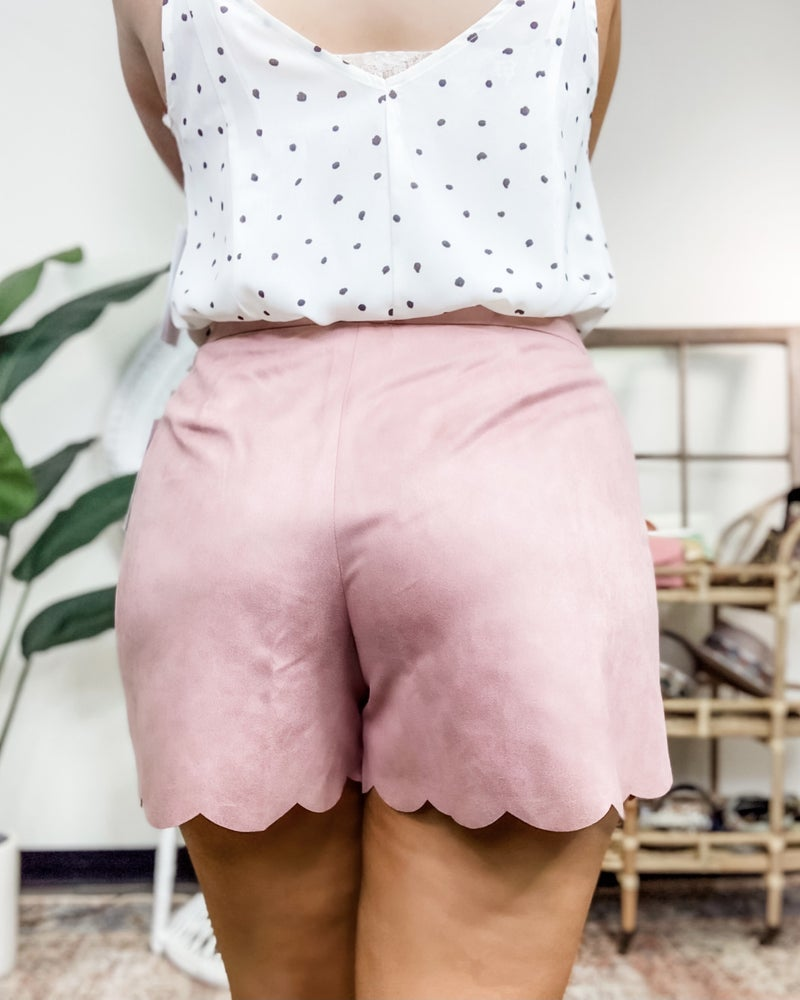 Cover Me In Suede Shorts