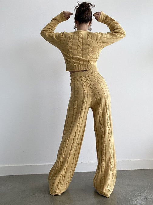 To The Max Cable Sweater Pants