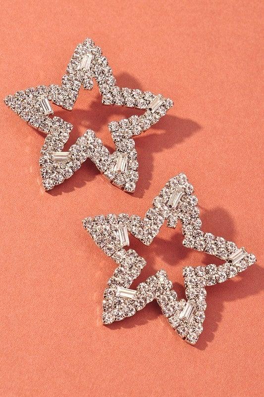 Seeing Stars Earrings - Silver