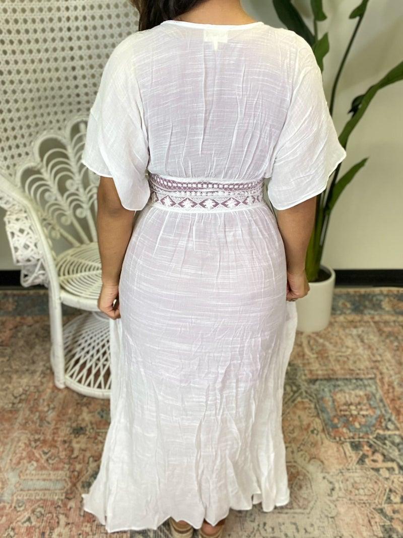 Chesca Duster Kimono - White
