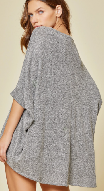 He's Into Me Top - CHARCOAL