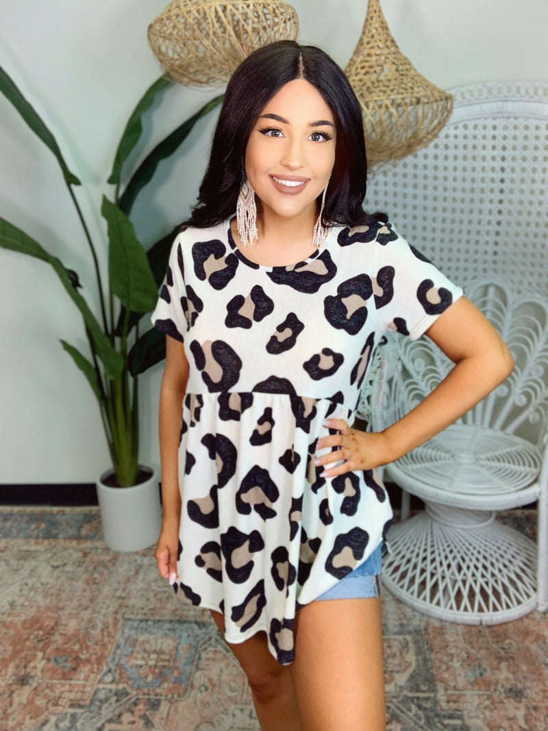 Main Attraction Leopard Top