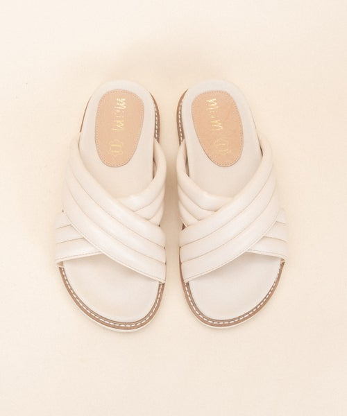 Cherish Me Slides - Beige