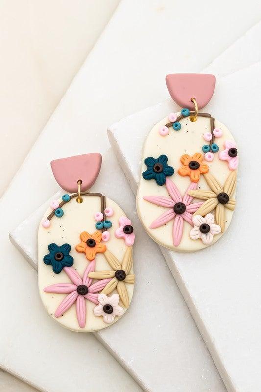 Flowers Of The Earth Oval Earrings