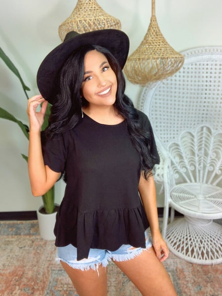Scalloped Top - Black