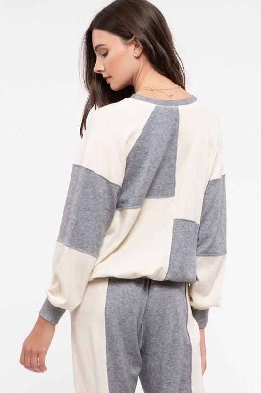 *FINAL SALE* Color Block Party Sweatshirt
