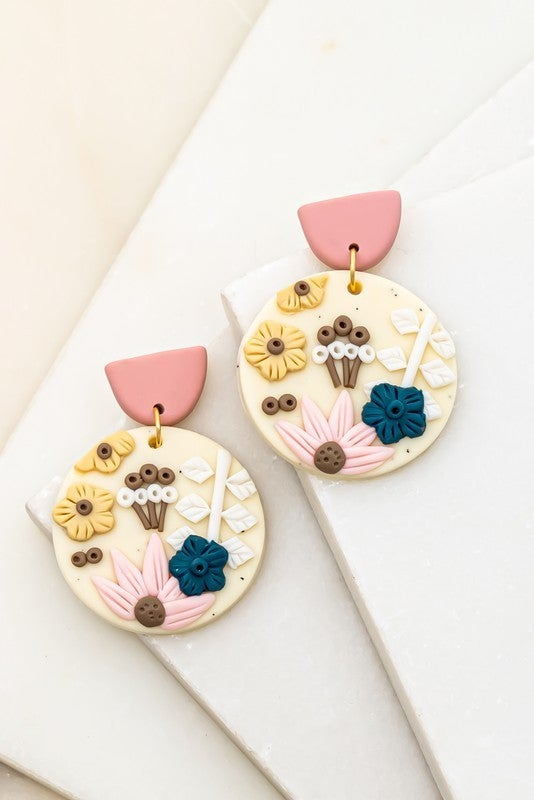 Flowers Of The Earth Circle Earrings