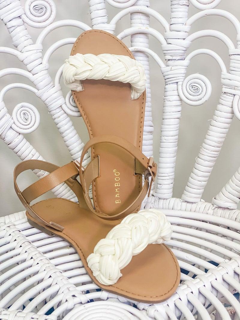 Braided Bliss Sandals - Beige