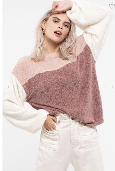 Cozy Vibes Colorblock Sweater