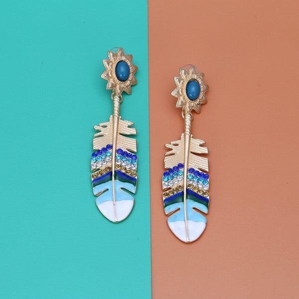 Flirty Feather Earrings