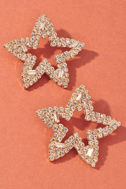 Seeing Stars Earrings - Gold