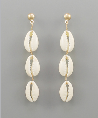 Life on the Beach Shell Earrings