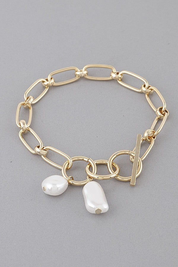 Write Your Story Chain Link Bracelet - Cream
