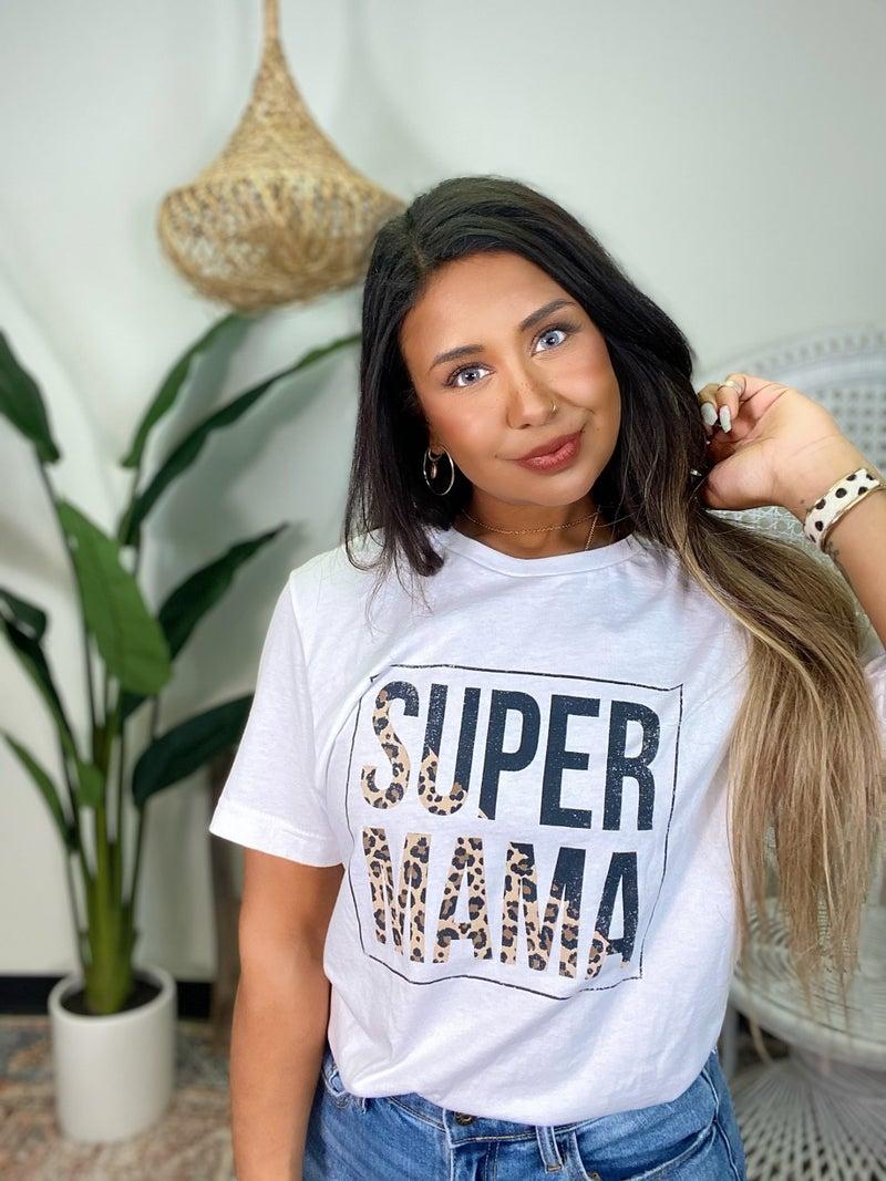 Super Mama Graphic Tee - White