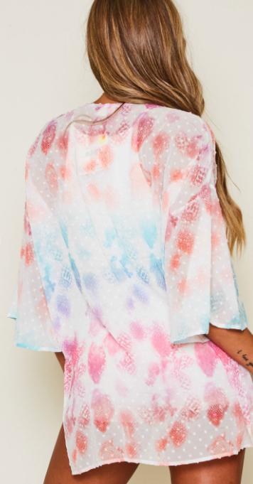Rainbow Dot Kimono - Rainbow