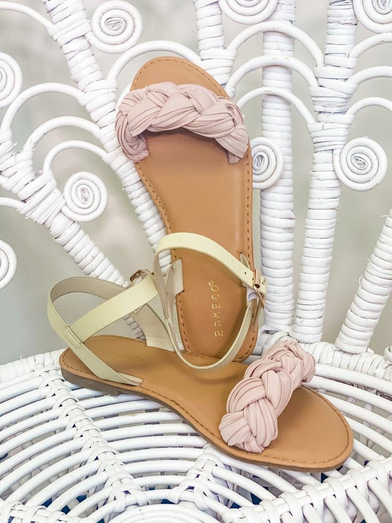 Braided Bliss Sandals - Blush