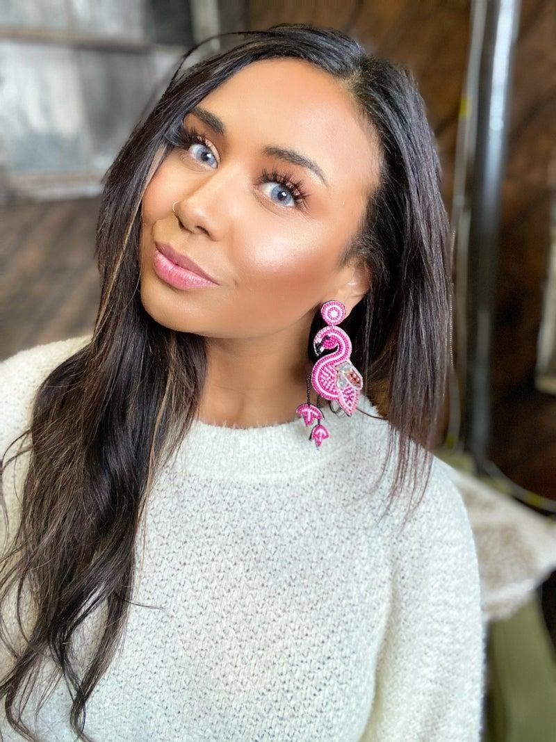 Charming Flamingo Earrings