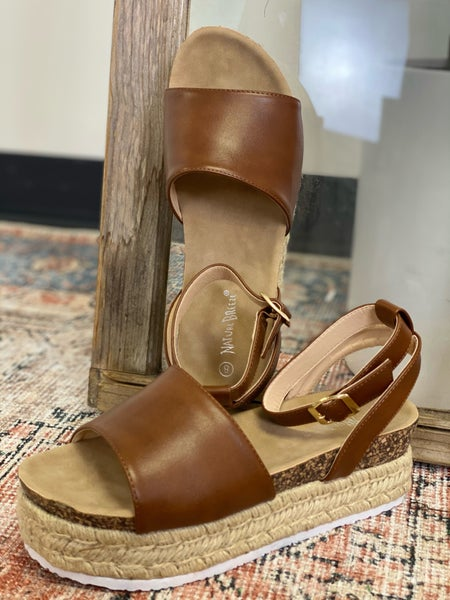 No One Knows Sandals - Cognac