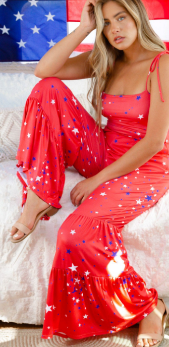 American Star Jumpsuit - Red
