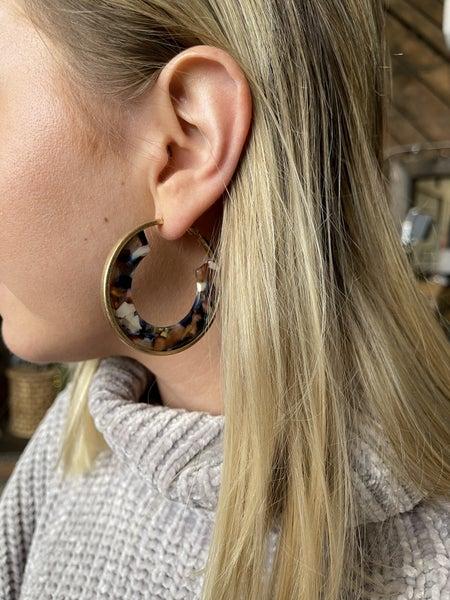 Pop of Beauty Hoop Earrings