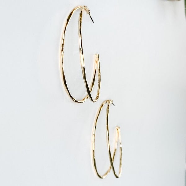Seeing Double Hoop Earrings