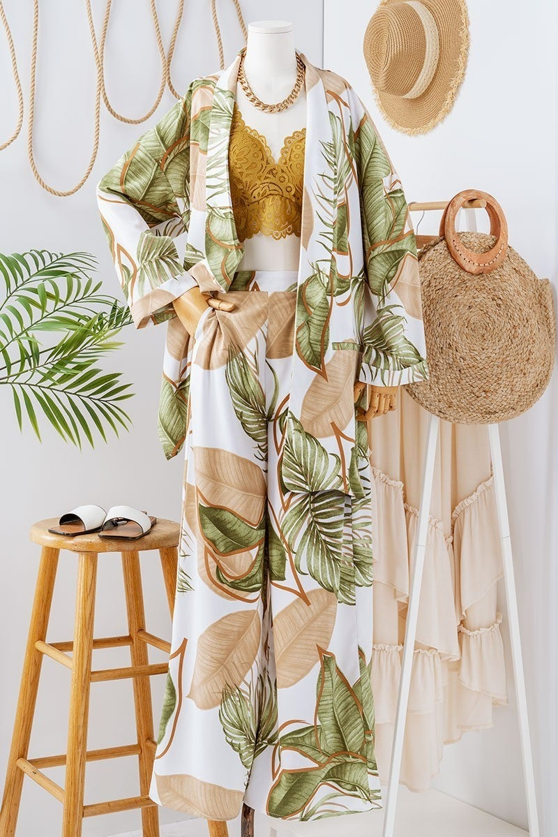 Hawaiian Tropics Tropical Blazer And Pants Set