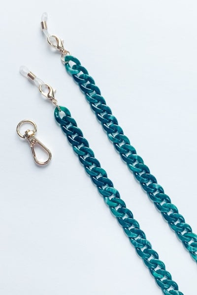 Acetate Link Face Cover Chain