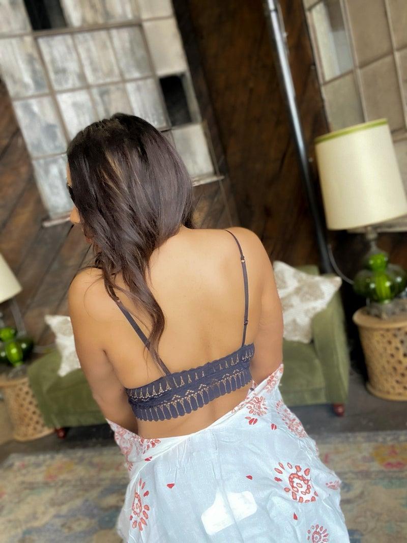Lovely Lace Padded Bralette - Black