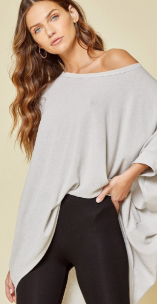 Cute All Day Top - Grey