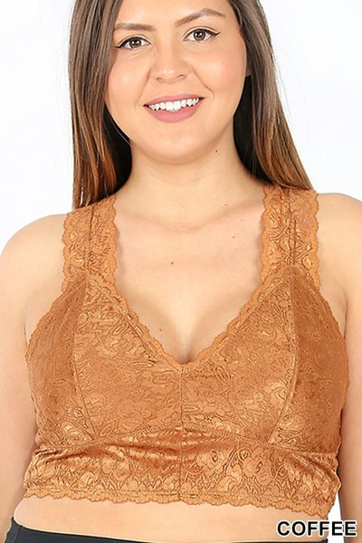 All Up To You Lace Bralette - Copper