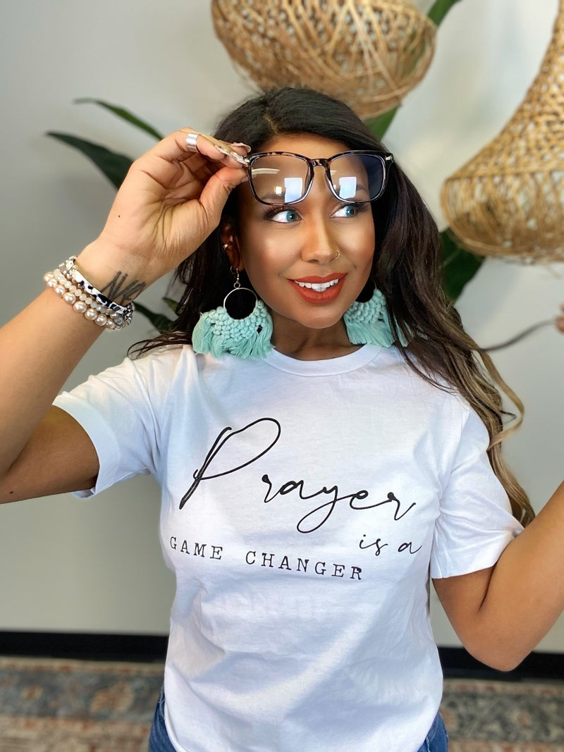 Prayer Is A Game Changer Tee - White