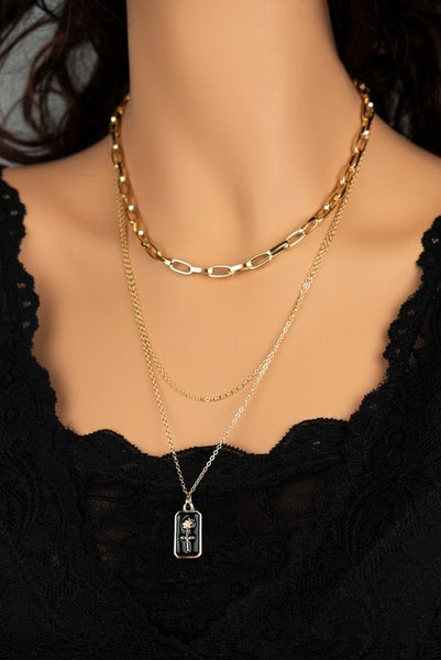 Chain Me In Roses Necklace