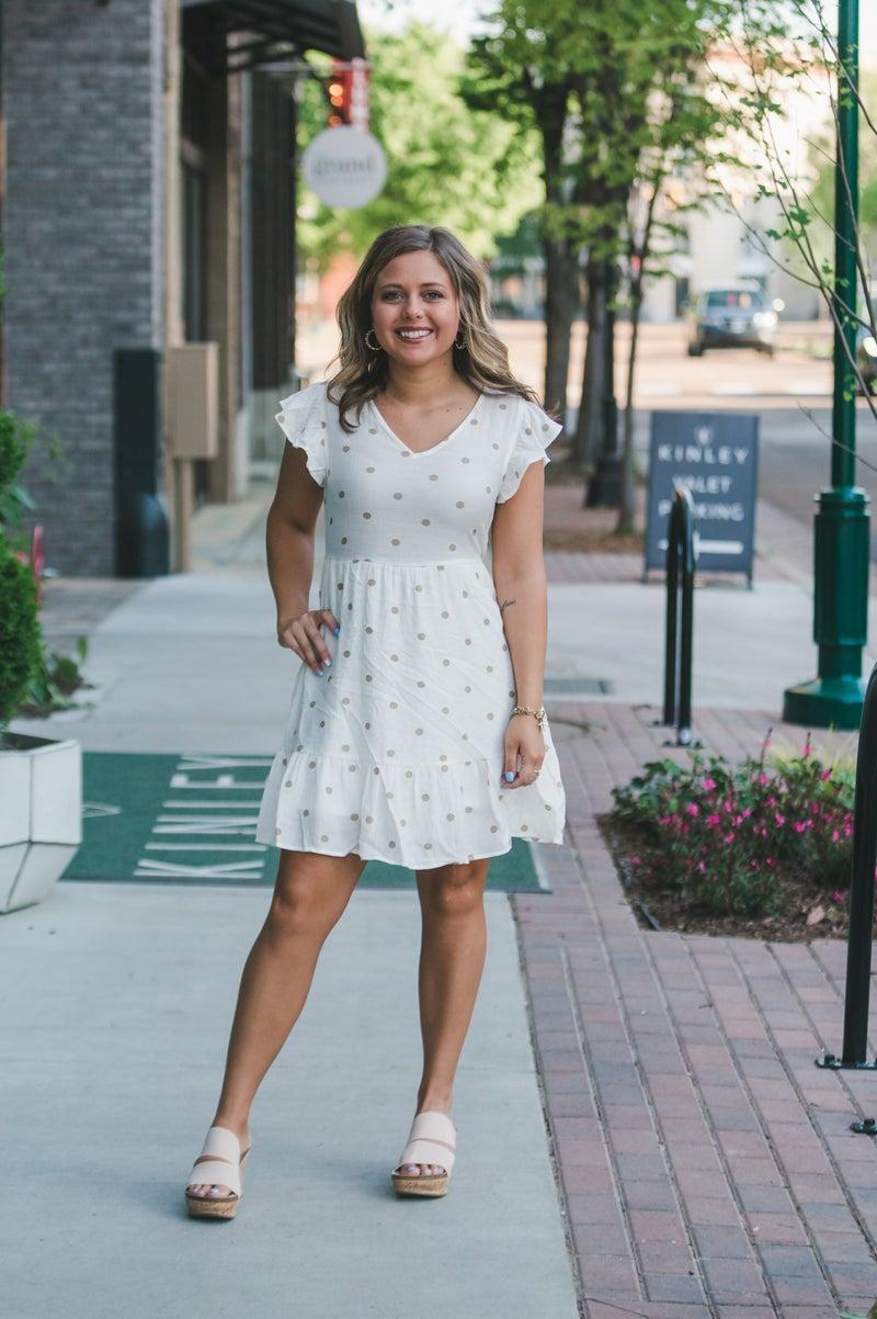 The Hayden Polka Dot Dress