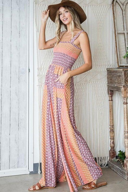Floral Knit Jumpsuit