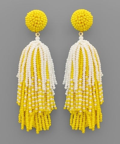Yellow Firework Beauty Earrings