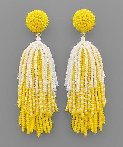 Yellow Firework Beauty Earrings