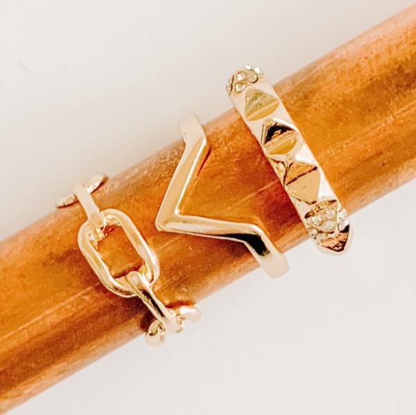 Gold Love Rings