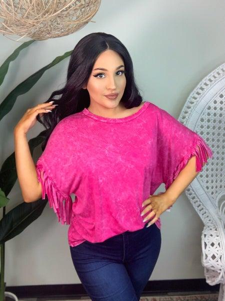Tassel Me This Top - Pink