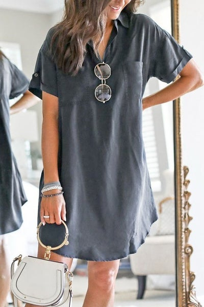Lesson Learned Dress - Grey